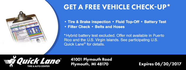 GET A FREE VEHICLE CHECK-UP