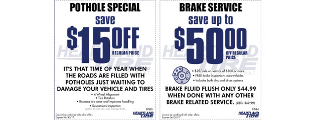 Pothole and Brake Specials