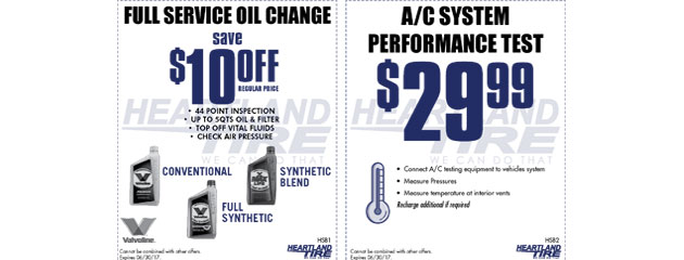 Full Service Oil Change and AC Performance Test