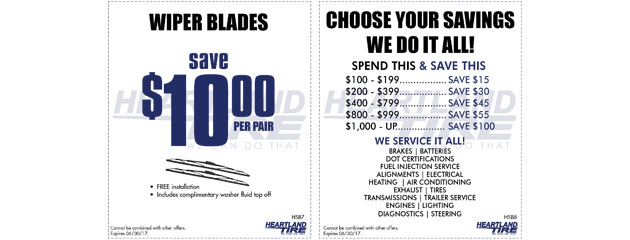 Save on Wipers and Choose your Savings Specials
