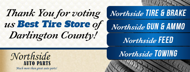 Thank you for voting us Best Tire Store!