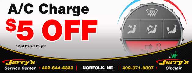 $5 Off A/C Charge