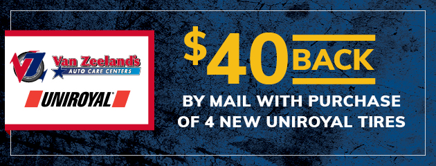 Get $40 Mail-In Rebate on Uniroyal Tires