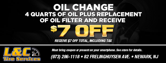 Oil Change: 4 quarts of oil plus replacement of oil filter and receive $7.00 off