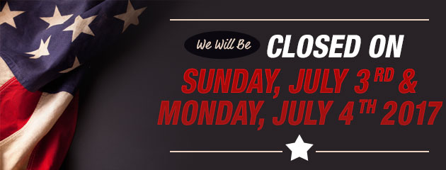 Closed July 3rd and 4th