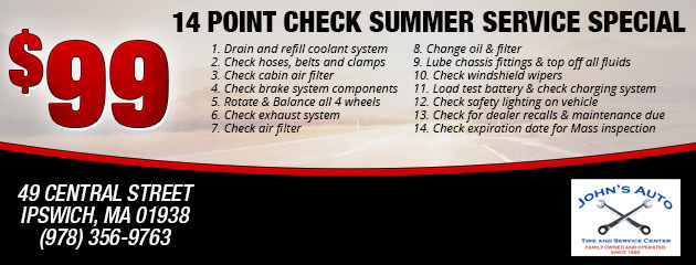 14 Point Check Summer Service