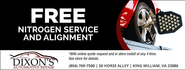 Free Nitrogen Service and Alignment Special