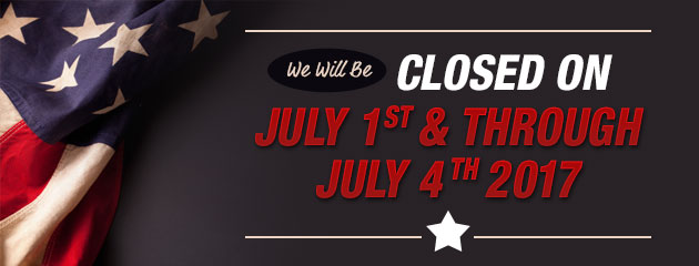Closed July 1st-4th