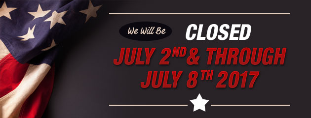 Closed July 2nd through 8th
