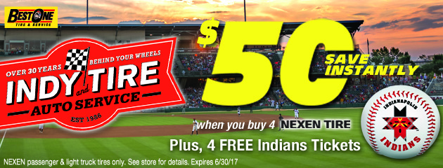 Save $50 when you buy 4 Nexen Tires