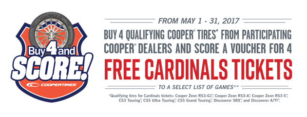 Buy 4 and Score - Cardinals Tickets
