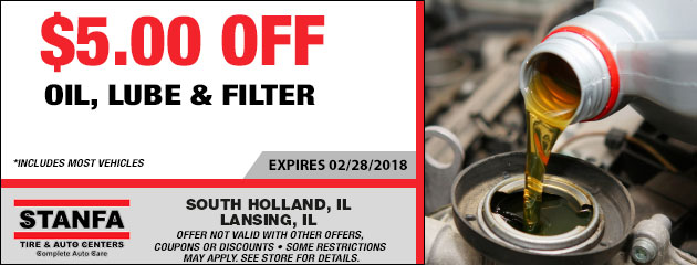 $5.00 Off Oil, Lube & Filter Special