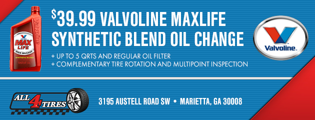 $39.99 Valvoline Maxlife Synthetic Blend Oil Change Special