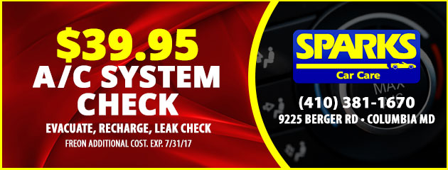 $39.95 A/C System Check Special