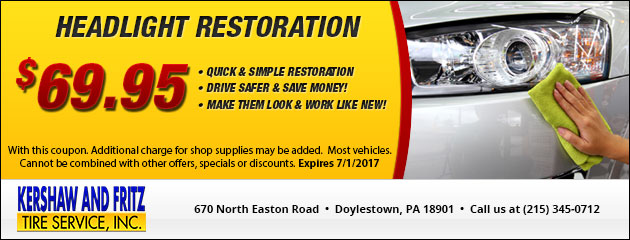 Headlight Restoration Special - $69.95