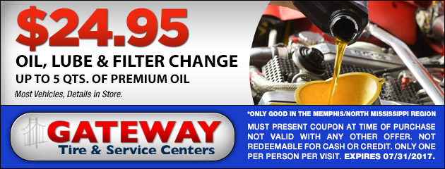 Oil, Lube and Filter Change $24.95!