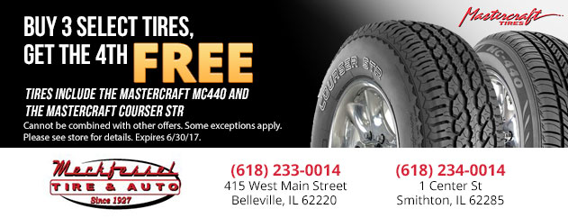 BUY 3 Get the 4th FREE Tire Promotion