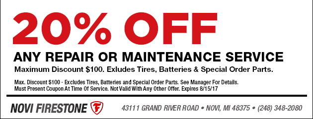 20% Off Any Repair or Maintnenace
