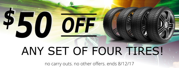 $50 OFF When You Buy Four Tires