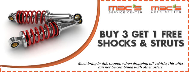 Buy 3 Get 1 Free Shocks & Struts Special