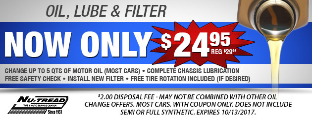 $24.95 Oil Lube and Filter