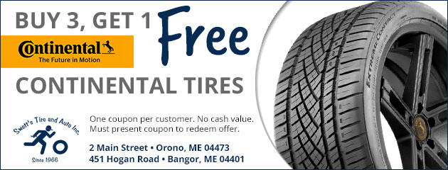 Buy 3, Get 1 Free Continental Tires