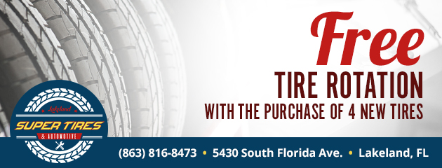Free Tire Rotation with the Purchase of 4 New Tires