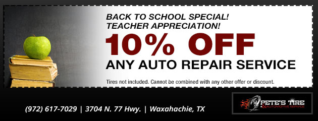Back to School - Teacher Discount
