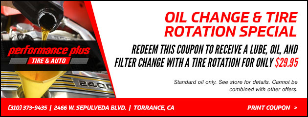 Oil Change & Tire Rotation Special