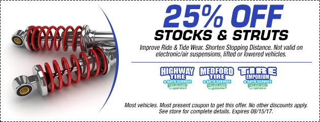 25% Off Shocks and Struts