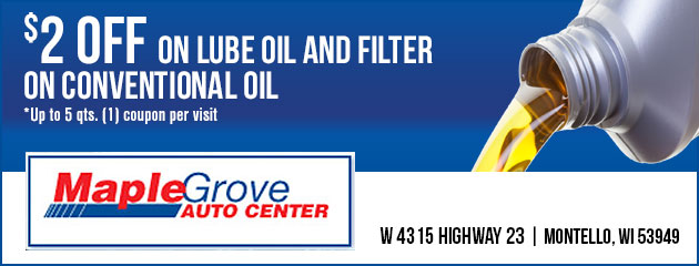 $2.00 off on Lube Oil and Filter on Conventional Oil