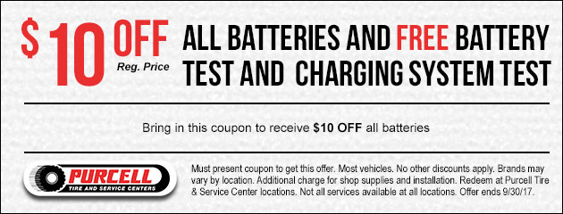 Receive $10 Off All Batteries