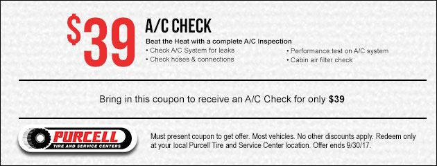 Receive an A/C Check for $39