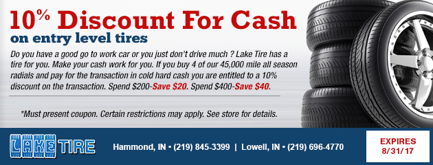 10% Off Entry Level Tires