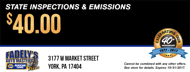 State Inspections & Emissions Special