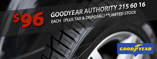 Goodyear Authority Special Price - Only $96!