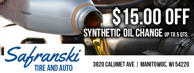 $15.00 Off Synthetic Oil Change Special