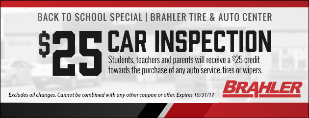 Back to School Special - $25 Car Inspection