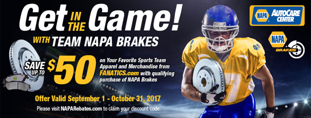 Get in the Game with Team Napa Brakes!