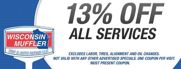 13% Off All Services