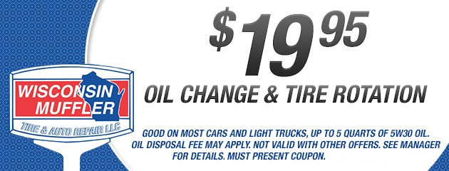 $19.95 Oil Change & Tire Rotation Special