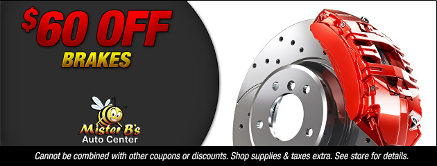 Save $60 Off Brakes
