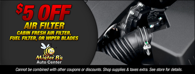 $5 Off Air Filter and Wipers