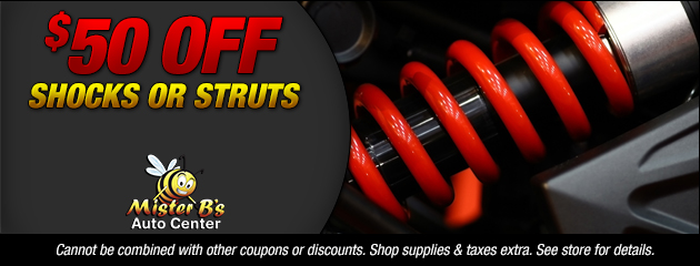 $50 Off Shocks or Struts