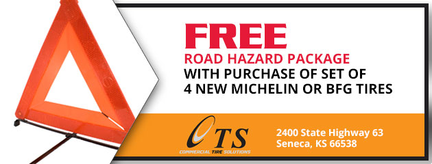 Free Road Hazard Package with Purchase of Set of 4 New Michelin or BFGoodrich Tires