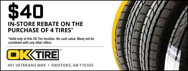 $40 In-Store Rebate on the purchase of 4 tires