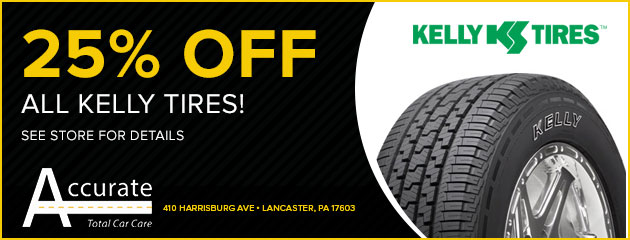 25% Off All Kelly Tires!