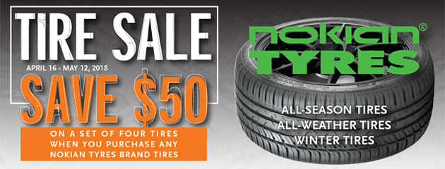 Tire Sale - Save $50 on Nokian Tyres