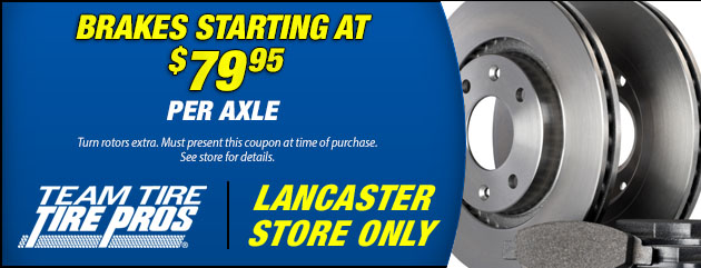 Brake Special - Starting at $79.95 per axle (L)