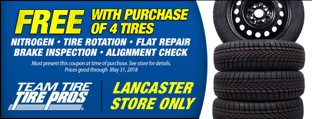 Free Services with Purchase of 4 Tires (L)